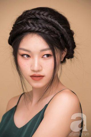 """4 cách tết tóc """"nàng thơ"""" dành riêng cho áo dài ngày tết"""