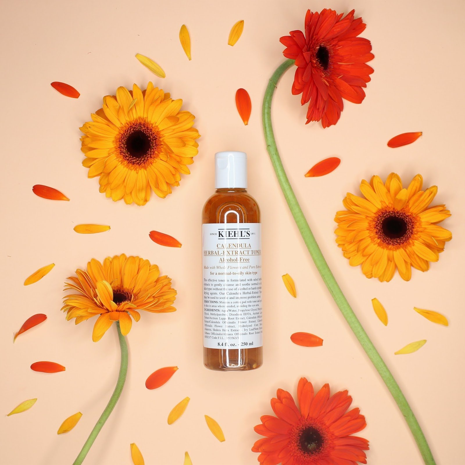 toner cho da dầu Kiehl's Calendula Herbal Extract Alcohol Free