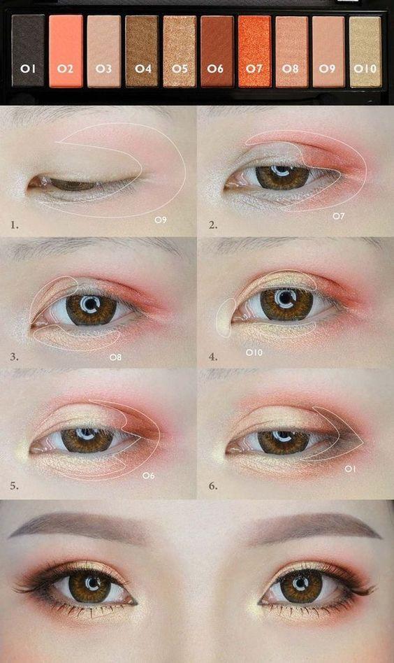 Kết hợp nhiều màu để có màu mắt đẹp chuẩn Hàn