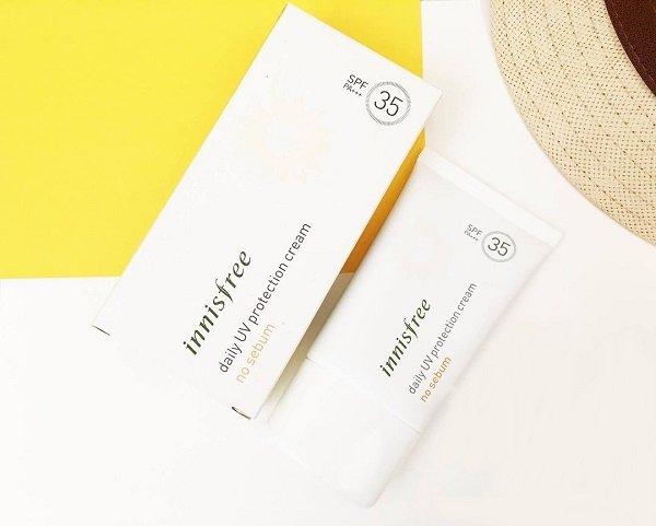 Kem chống nắng kiềm dầu Daily UV Protection No Sebum suncream (Innisfree)