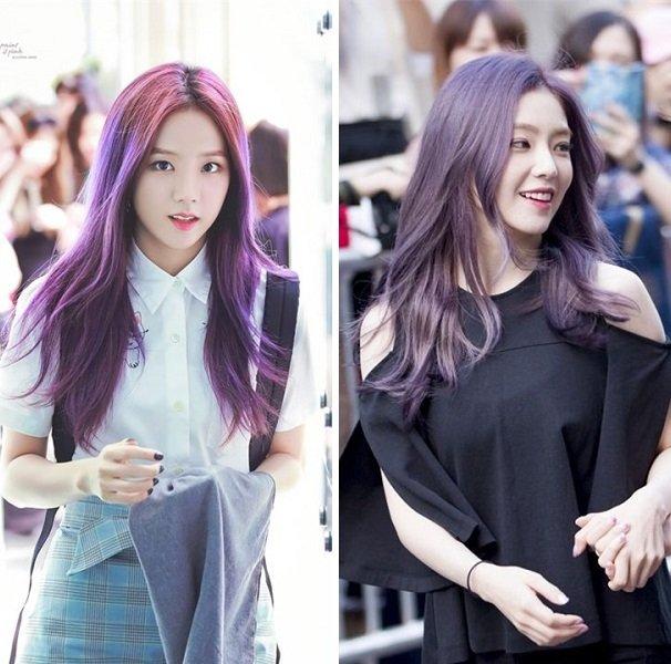 Nhuộm tóc màu tím