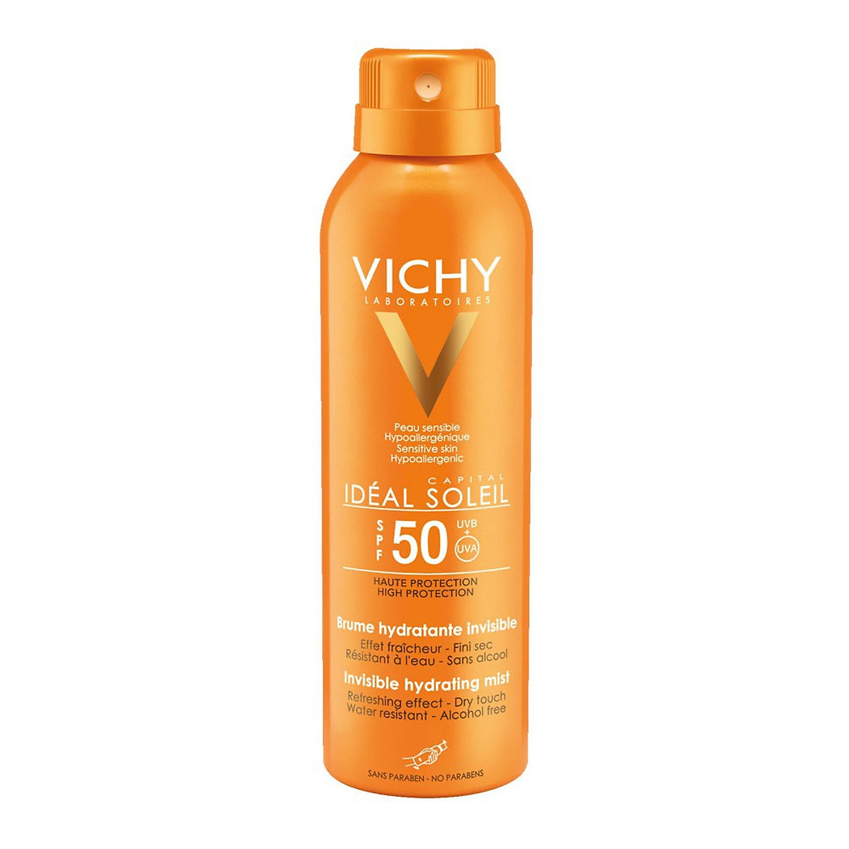 Vichy Ideal Soleil SPF 50 Invisible Hydrating Mist Dry Touch