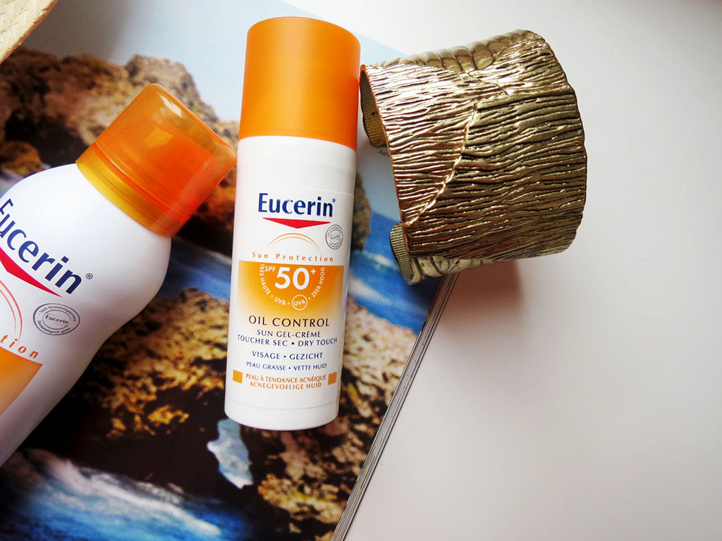 review kem chống nắng Eucerin Sun Gel- Cream Oil Control SPF 50+