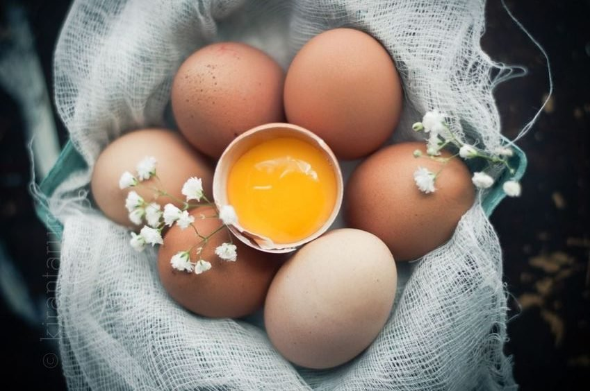 dưỡng ẩm da bằng trứng
