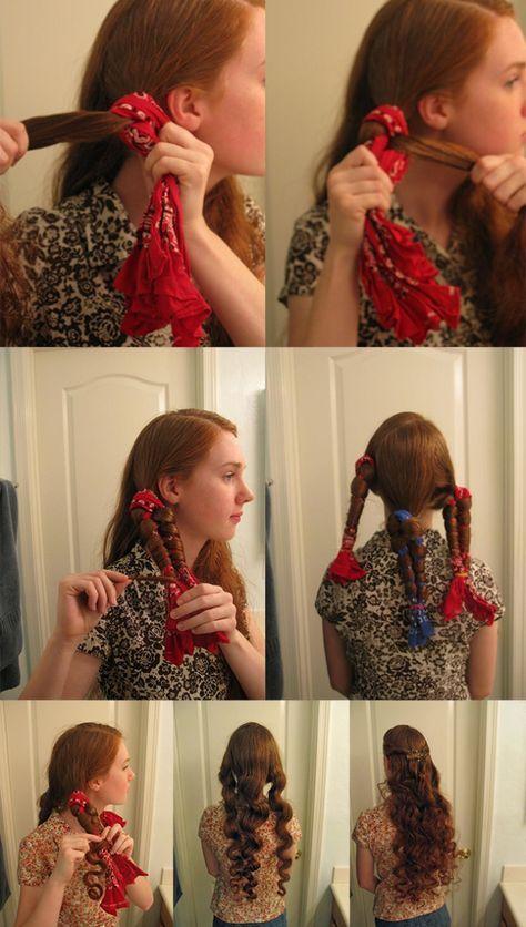 Làm tóc xoăn sóng ngắn ngang vai cực dễ tại nhà bằng cách xoắn tóc