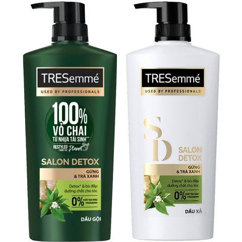 Review dầu gội phục hồi tóc TRESemmé Salon Detox với thiết kế vỏ chai mới thân thiện với môi trường