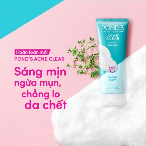 Chút review nhẹ về Sữa rửa mặt Sáng da ngừa mụn Pond's Acne Clear