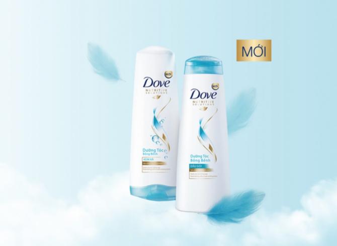 bộ sản phẩm Dove chăm sóc tóc