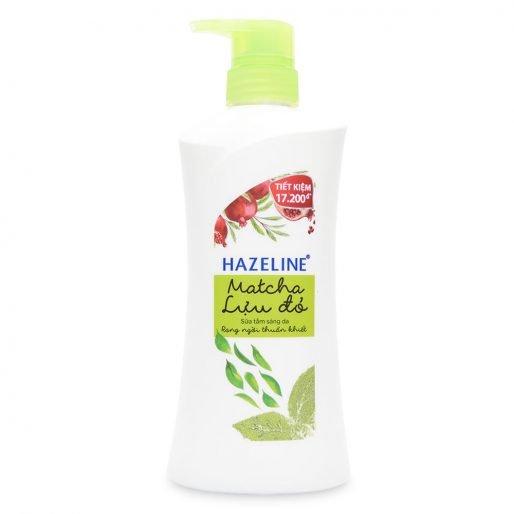 Sữa Tắm Trắng Da Tốt Nhất Hiện Nay Hazeline Matcha lựu đỏ