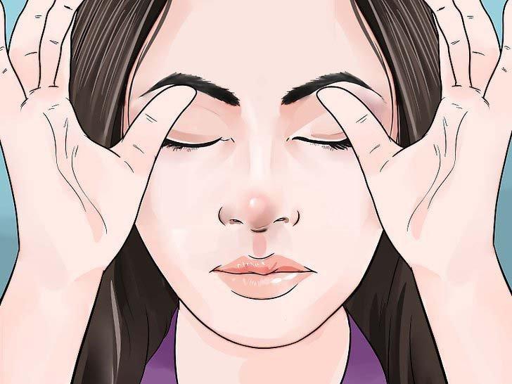 bài tập xóa nếp nhăn khóe mắt