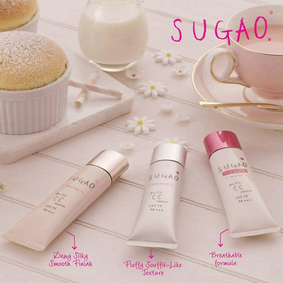 Kem nền Sugao CC Cream AirFit có bao nhiêu loại? Và phù hợp với những loại da nào?