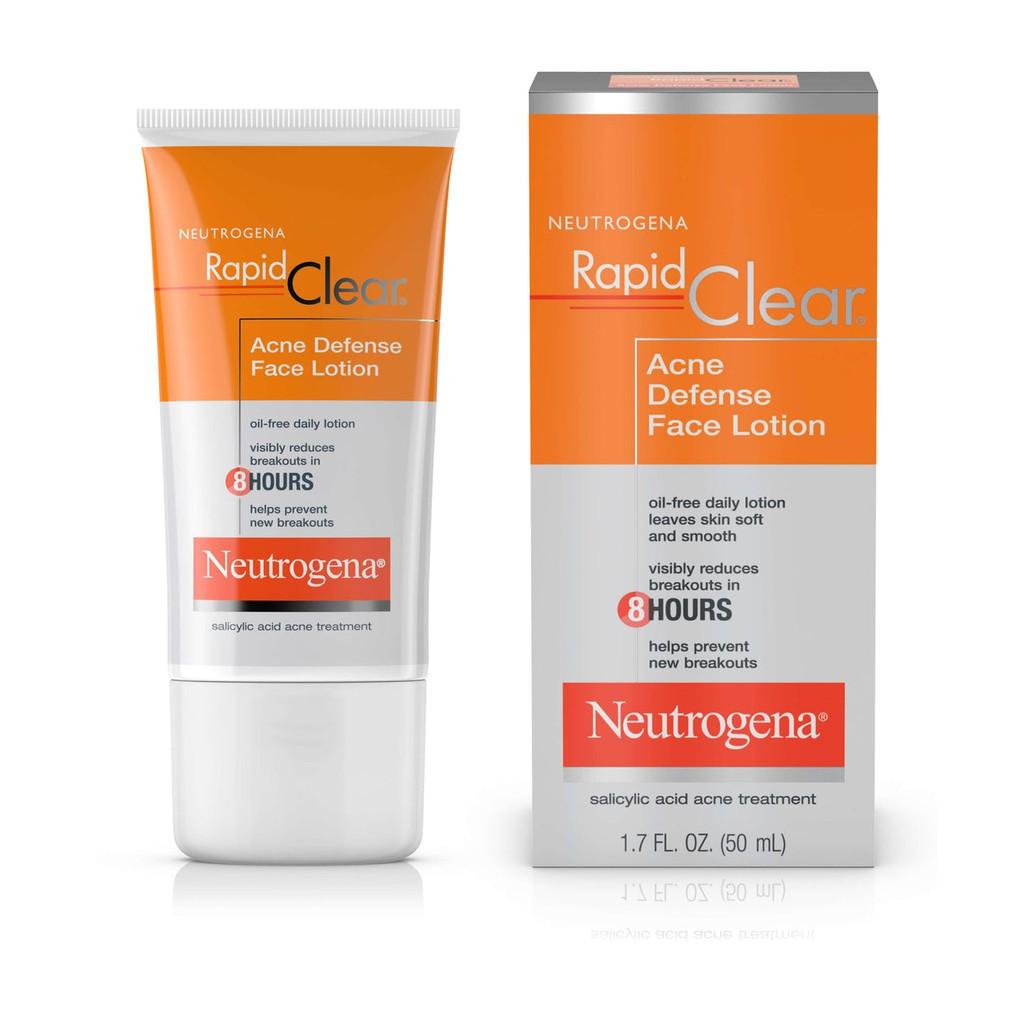 Kem dưỡng da trị mụn Neutrogena Rapid Clear Acne Defense Face Lotion