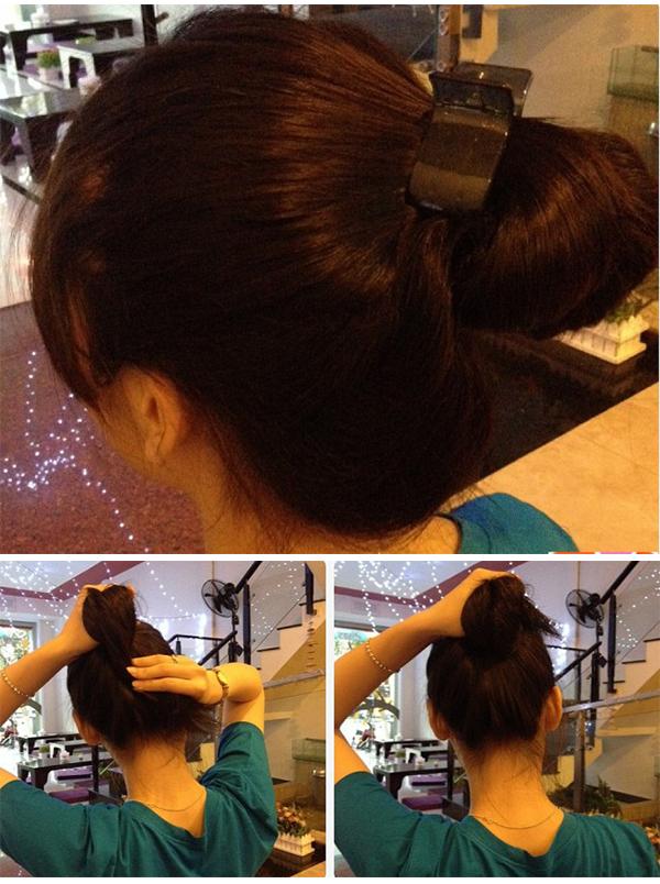 dùng kẹp càng cua giữ nếp tóc