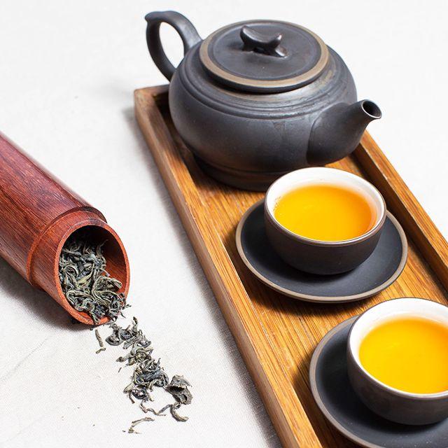 trà xanh và bơ