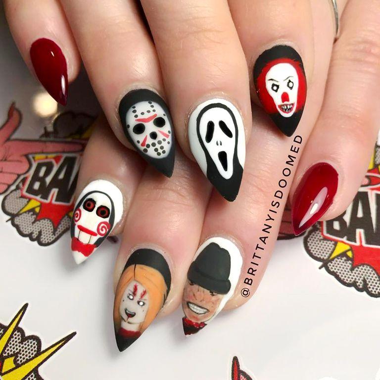 Halloween Nail Art Designs Gallery: 6 Mẫu Móng Tay đẹp Cho đêm Halloween đầy Ma Mị