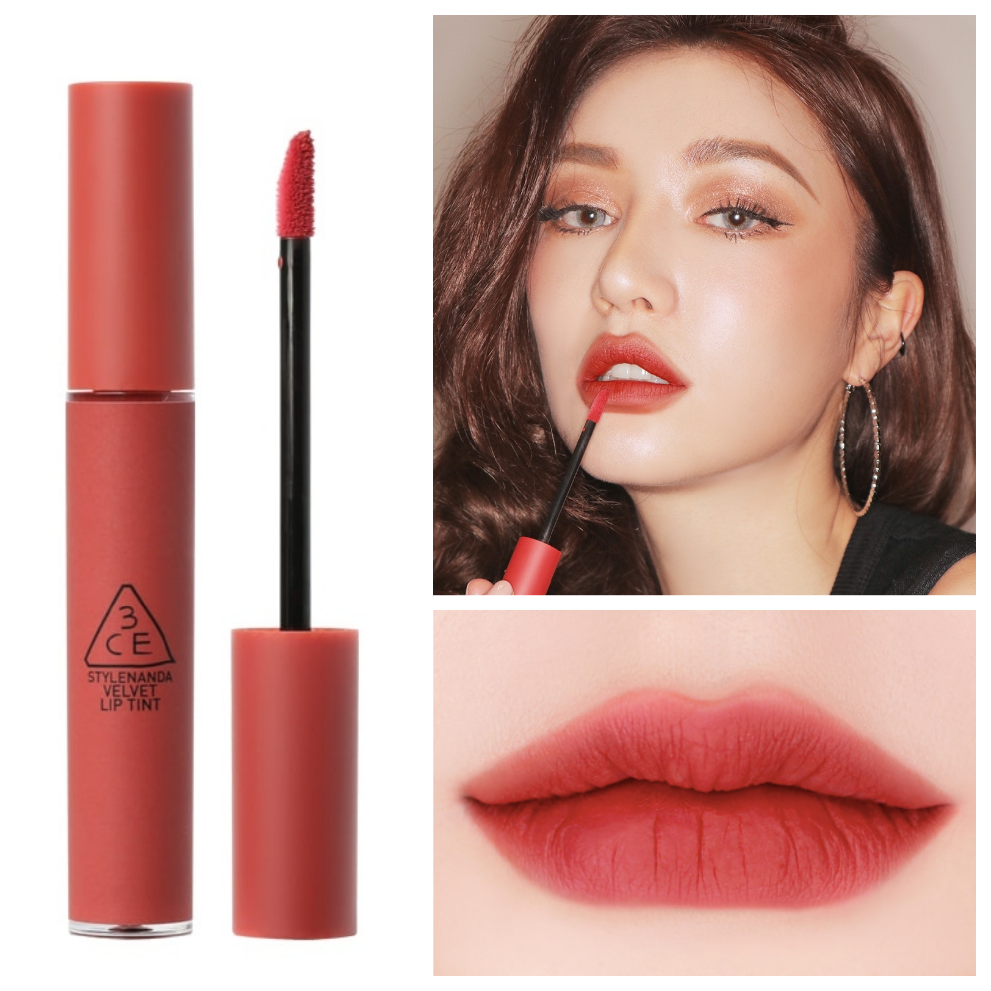 Bảng màu son 3CE Velvet Lip Tint Daffodil