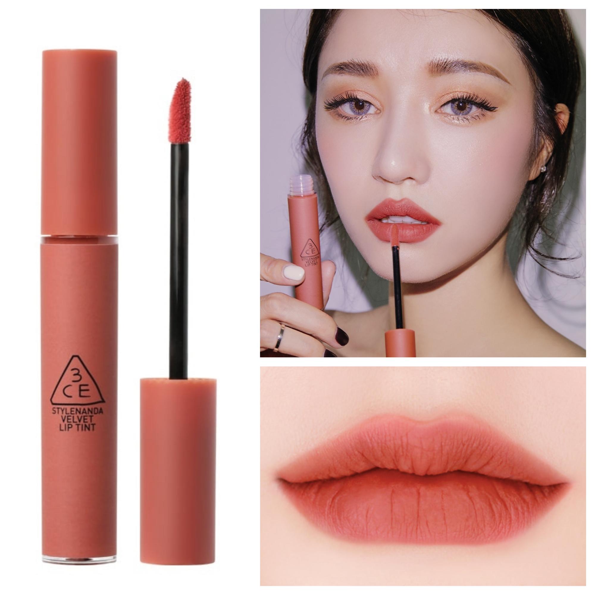 Bảng màu son kem 3CE Velvet Lip Tint Going Right