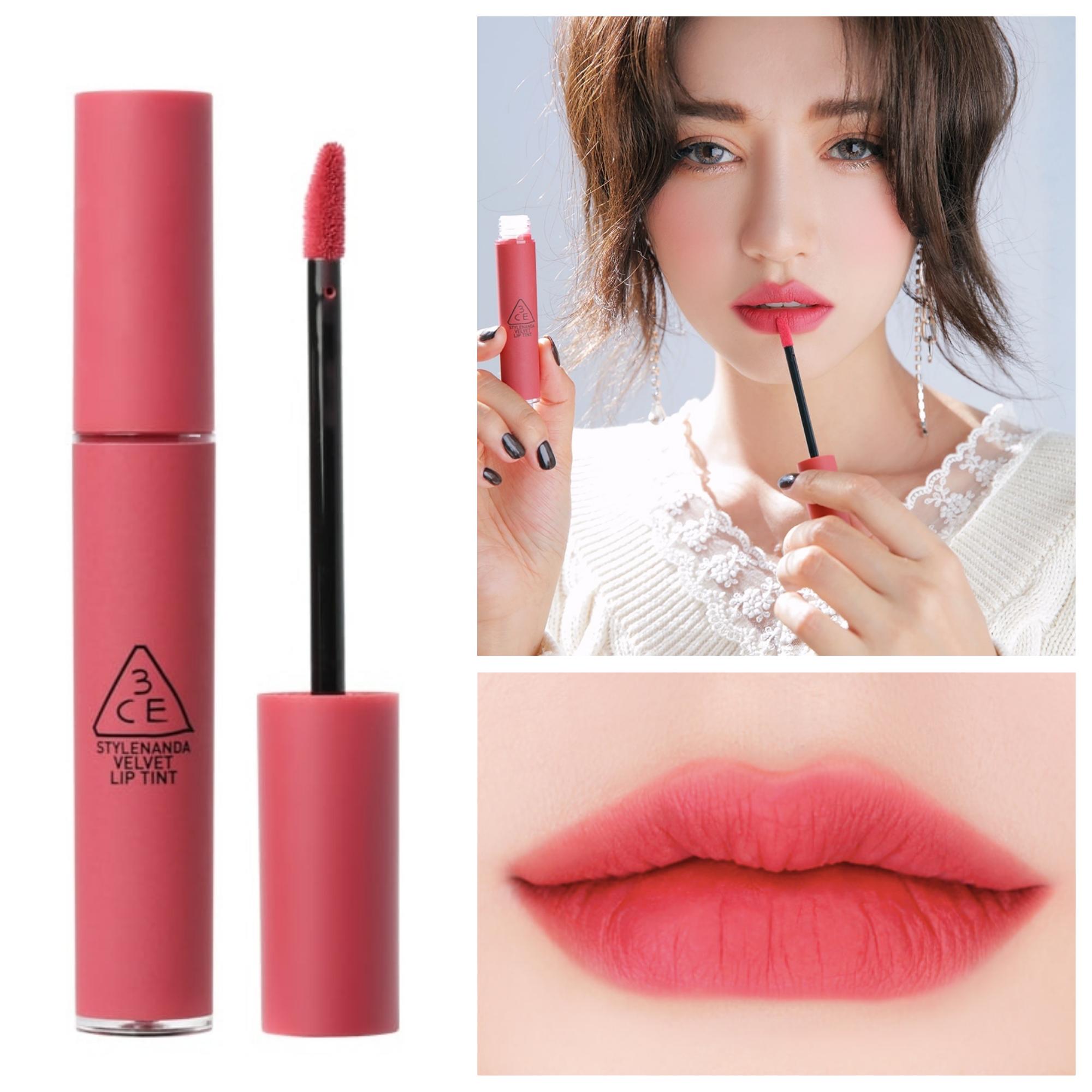 Bảng màu son 3CE Velvet Lip Tint Pink Break