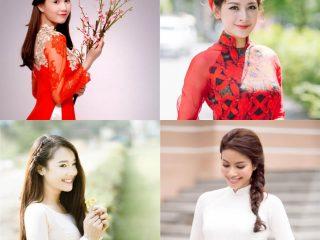 4 kiểu tóc cô dâu đẹp 2018 kết hợp cùng áo dài