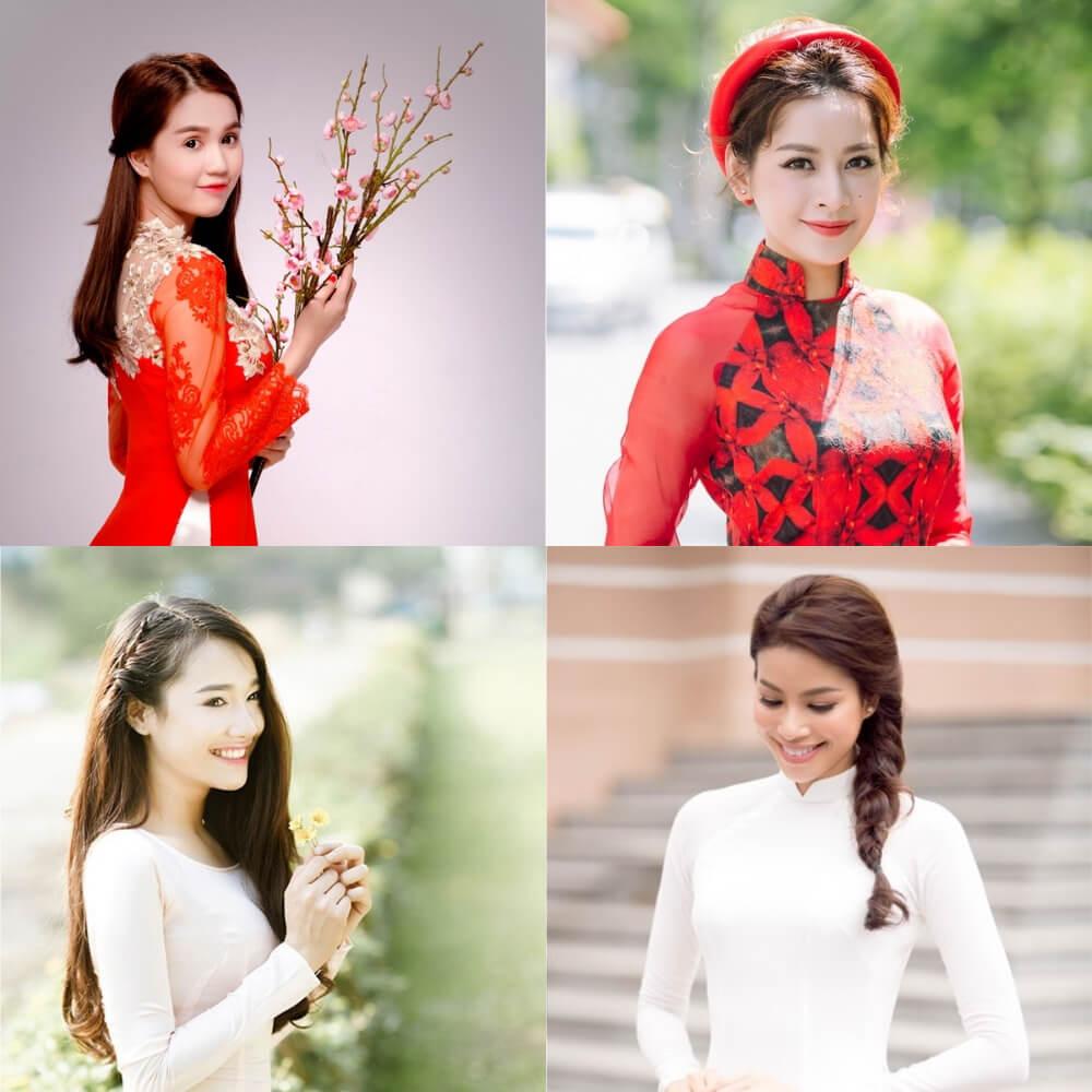 4 kiểu tóc cô dâu đẹp 2019 kết hợp cùng áo dài