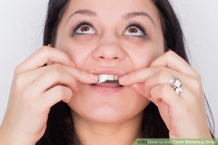 cách dùng miếng trắng răng