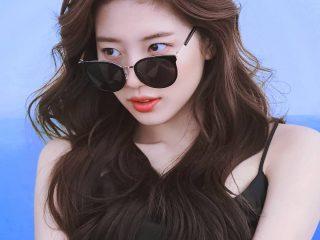 Biến tấu cùng tóc uốn đuôi nhẹ nhàng cho nàng diện kính mát cực xinh