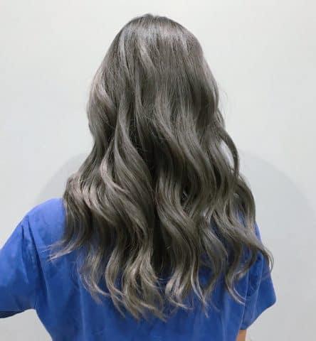 Nhuộm Light tóc màu xám khói