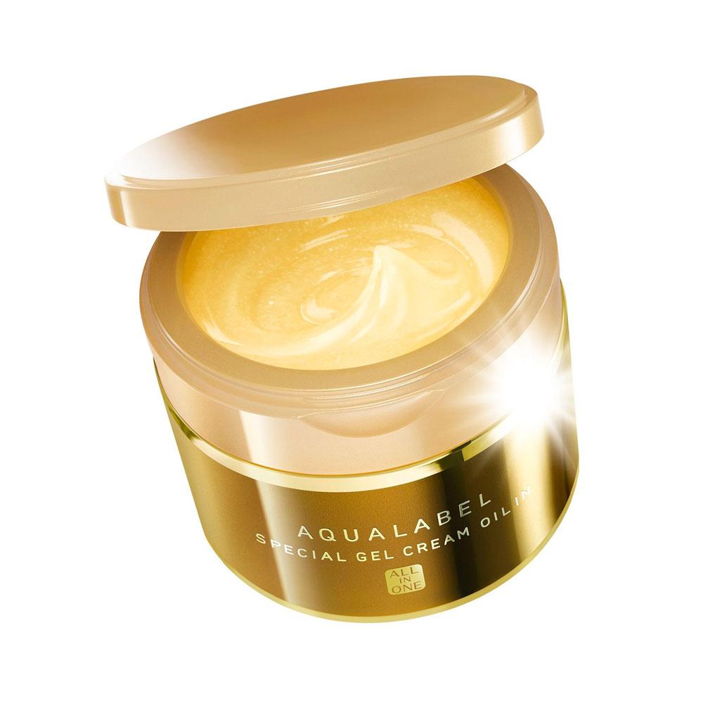 Kem dưỡng da ban đêm Shiseido Aqualabel cream màu vàng dành cho da lão hóa