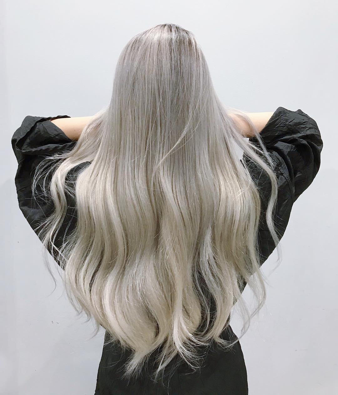 tóc nhuộm màu khói đẹp