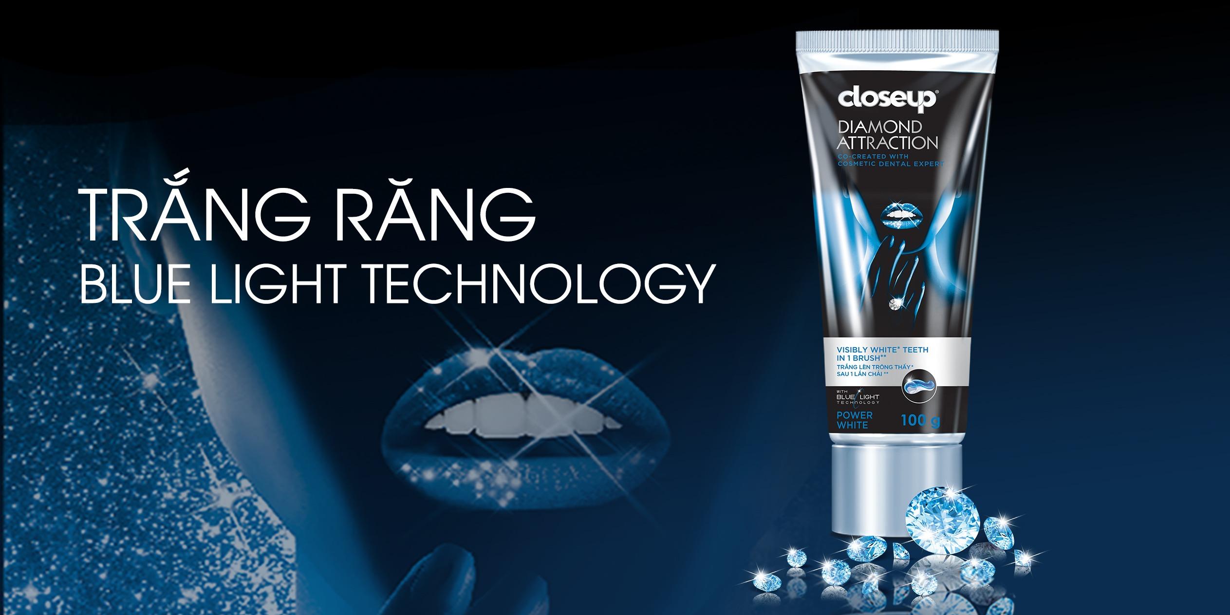 kem đánh răng tốt nhất thế giới Close Up  White Attraction Diamond