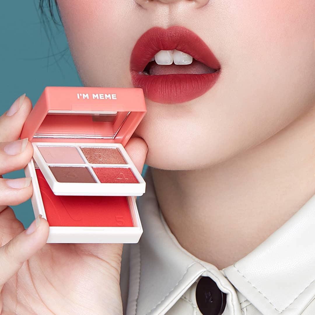 I'M MEME I'm Multi Cube Apple Red hộp phấn mắt bé bé xinh xinh vừa đủ dùng