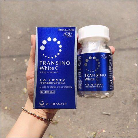 Viên uống trắng da Transino hỗ trợ chống nắng bán chạy số