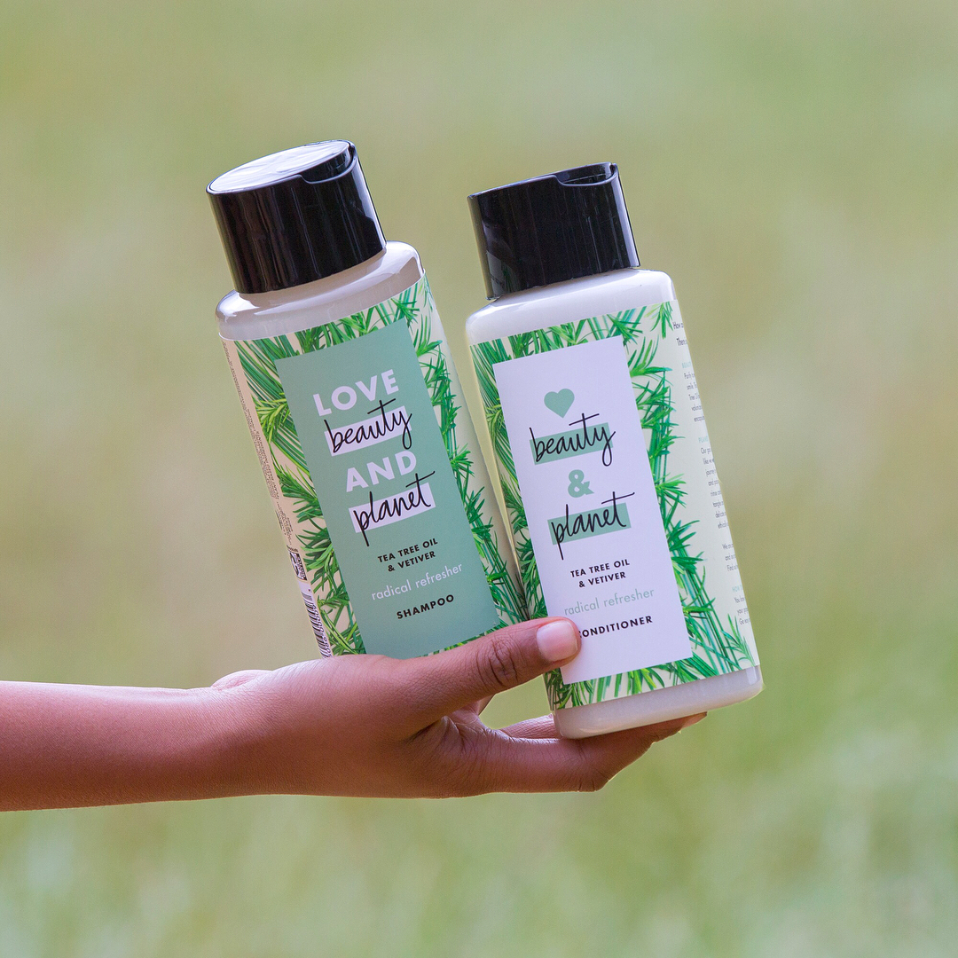 Image result for Love Beauty And Planet Tea Tree Oil & Vetiver dầu gội