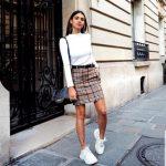 4 công thức phối chân váy kẻ caro không thua gì fashionista!