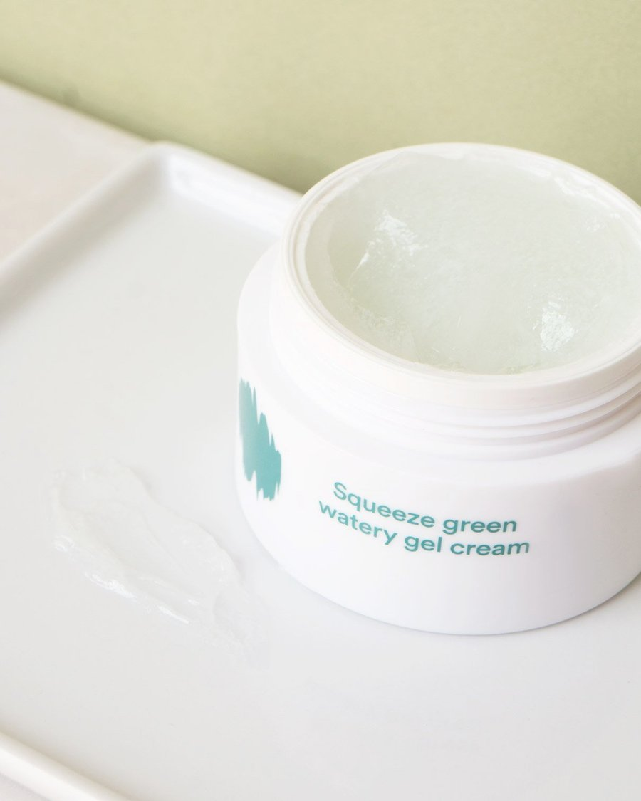 Kem dưỡng ẩm skincare routine Enature Squeeze Green Watery Gel Cream