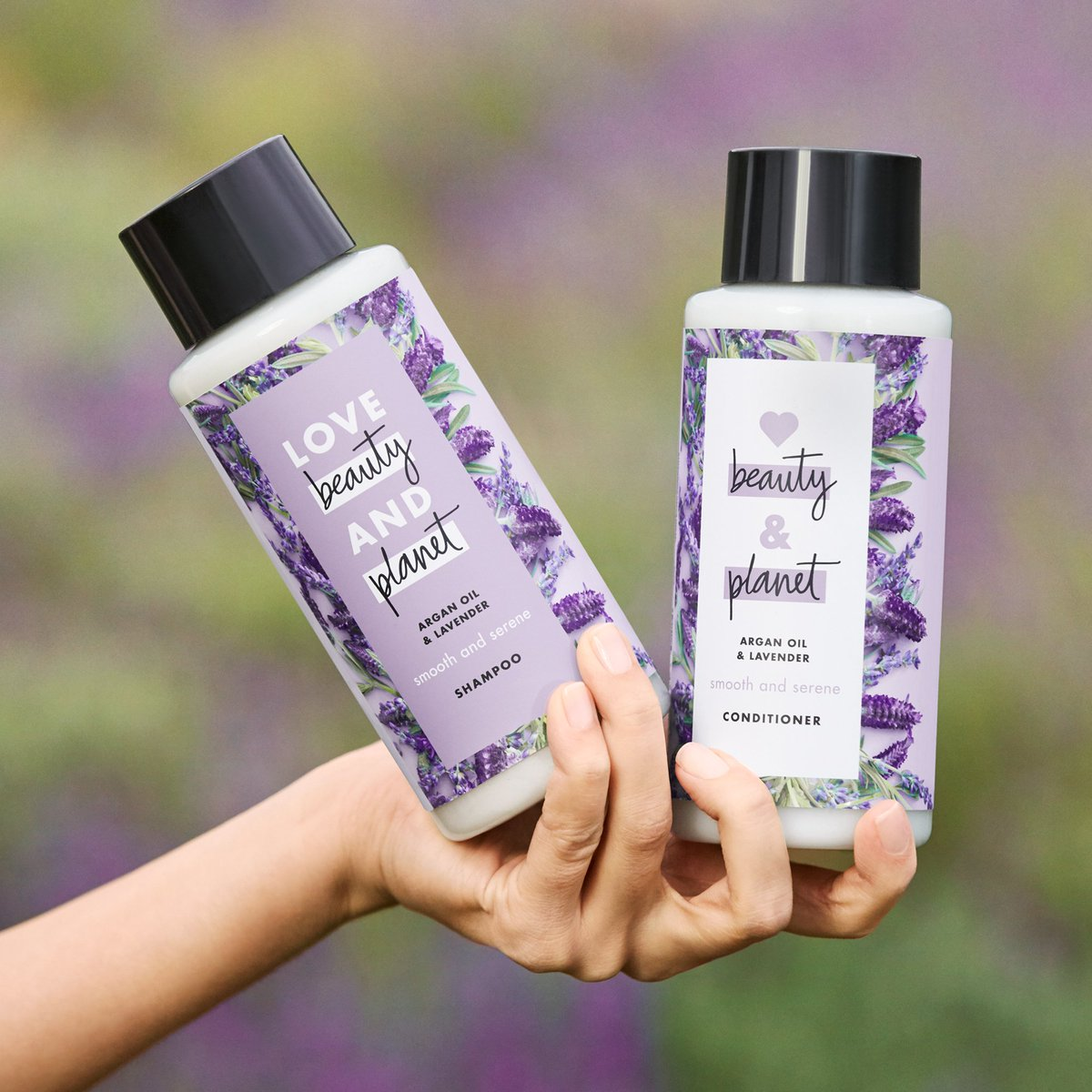 Image result for Love Beauty and Planet Argan Oil &Lavender dầu gội