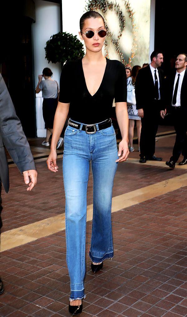 Bella Hadid khoe đường cong triệt để và đôi chân dài tăm tắp khi sải bước trên phố