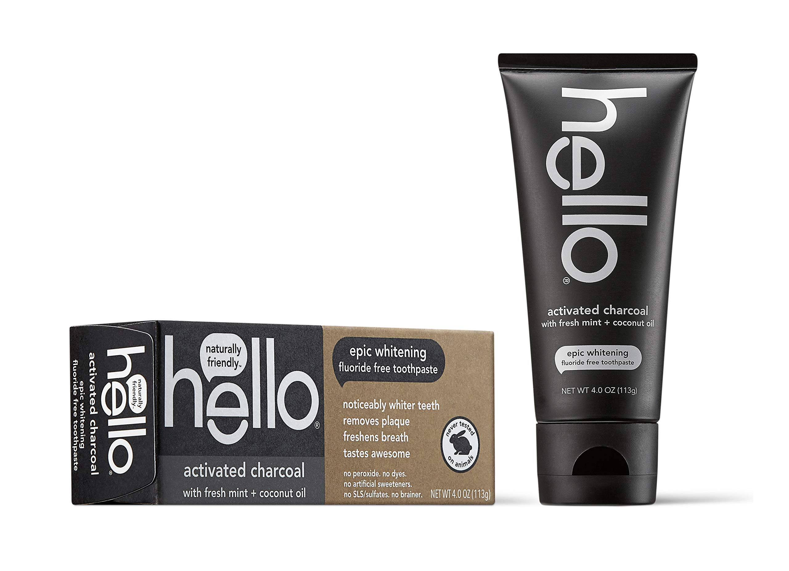 Hello Activated Charcoal Teeth Whitening Toothpaste