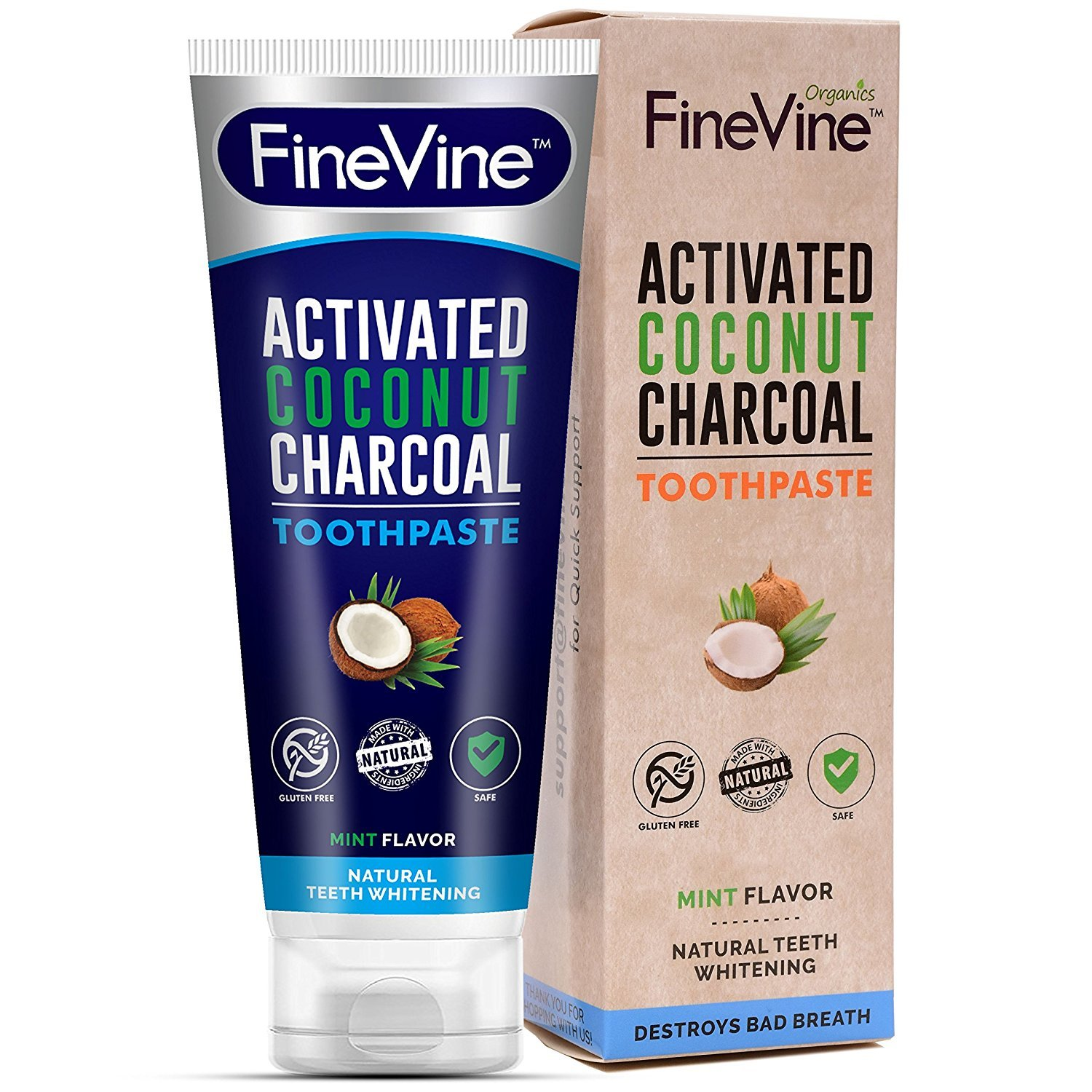 Fine Vine Triple Action Teeth Whitening Toothpaste
