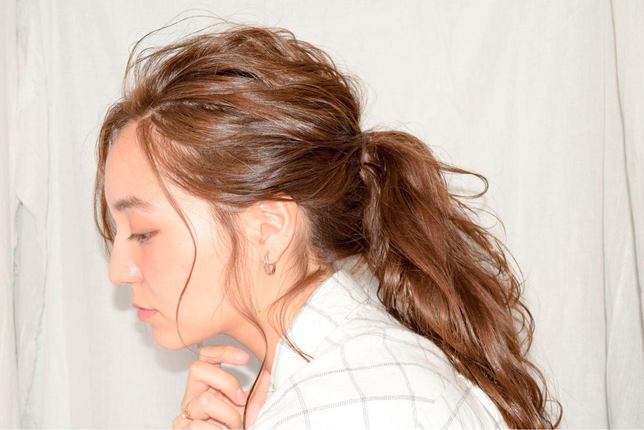 tóc đuôi ngựa cột thấp