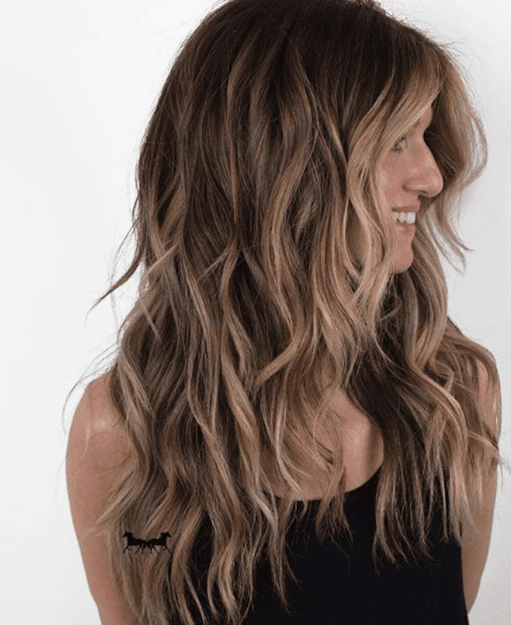 tóc vàng khói kết hợp nâu sẫm