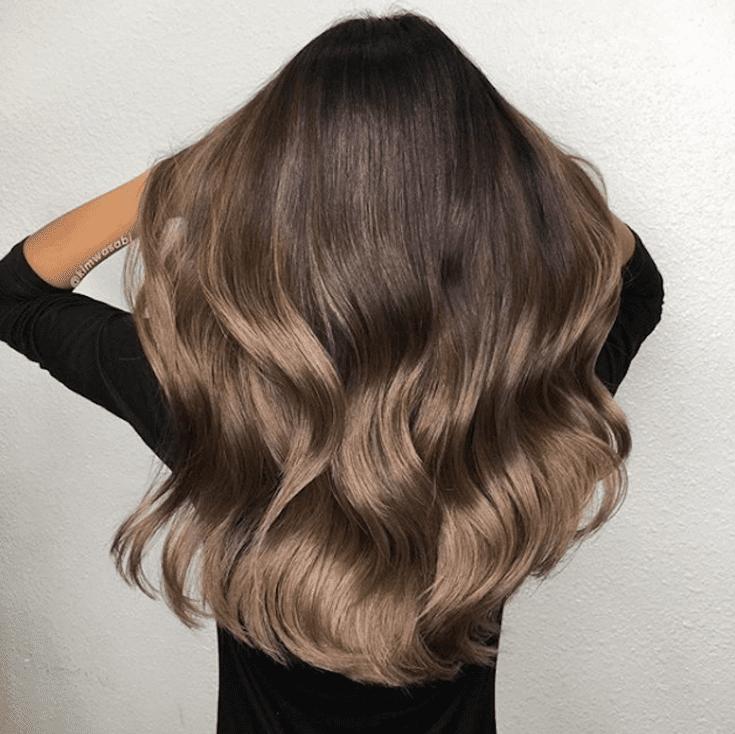 tóc be nâu kết hợp vàng băng