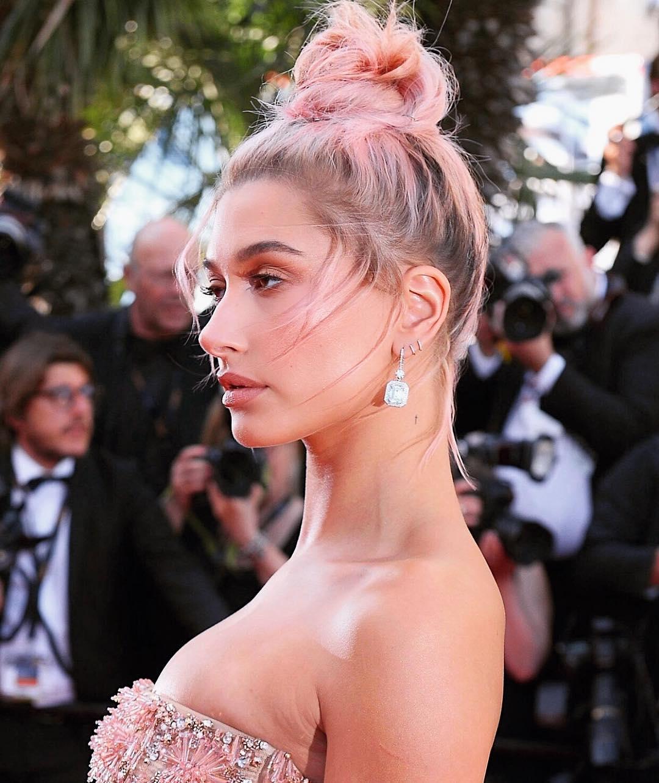 tóc nhuộm pink