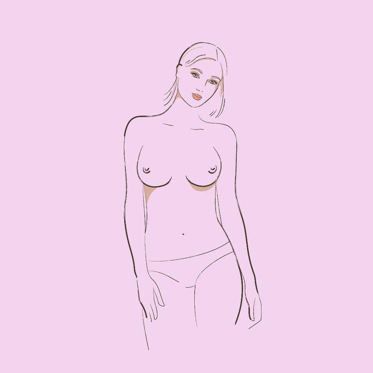 ngực có khe rộng