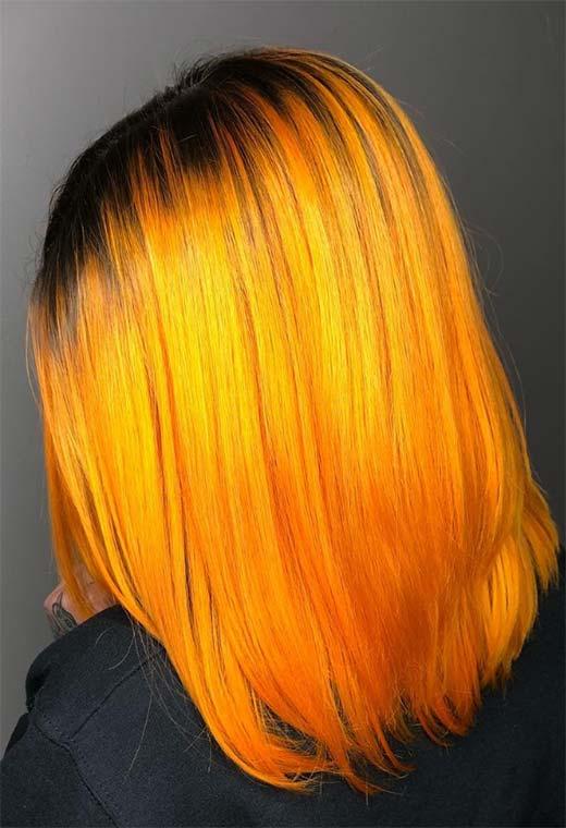 tóc nhuộm tone vàng
