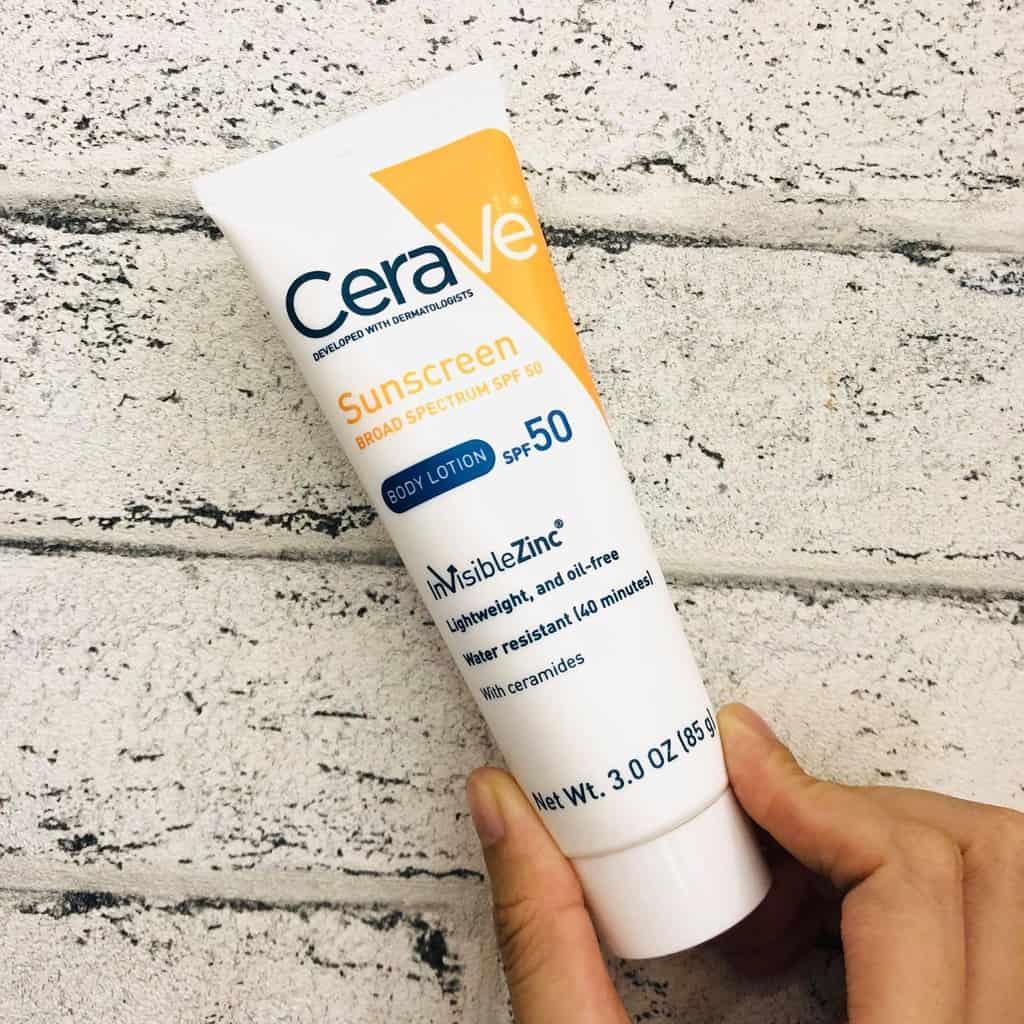 kem chống nắng vật lý CeraVe Sunscreen Body Lotion SPF 50