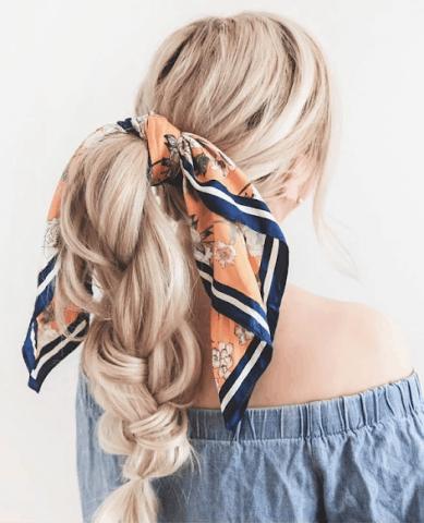 1 chiếc khăn, 3 kiểu tóc, chẳng lo tóc rối xù nữa!