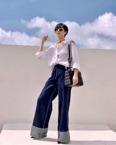 """Học """"Cô Em Trendy"""" Khánh Linh mix đồ cùng tóc tém chuẩn mốt"""