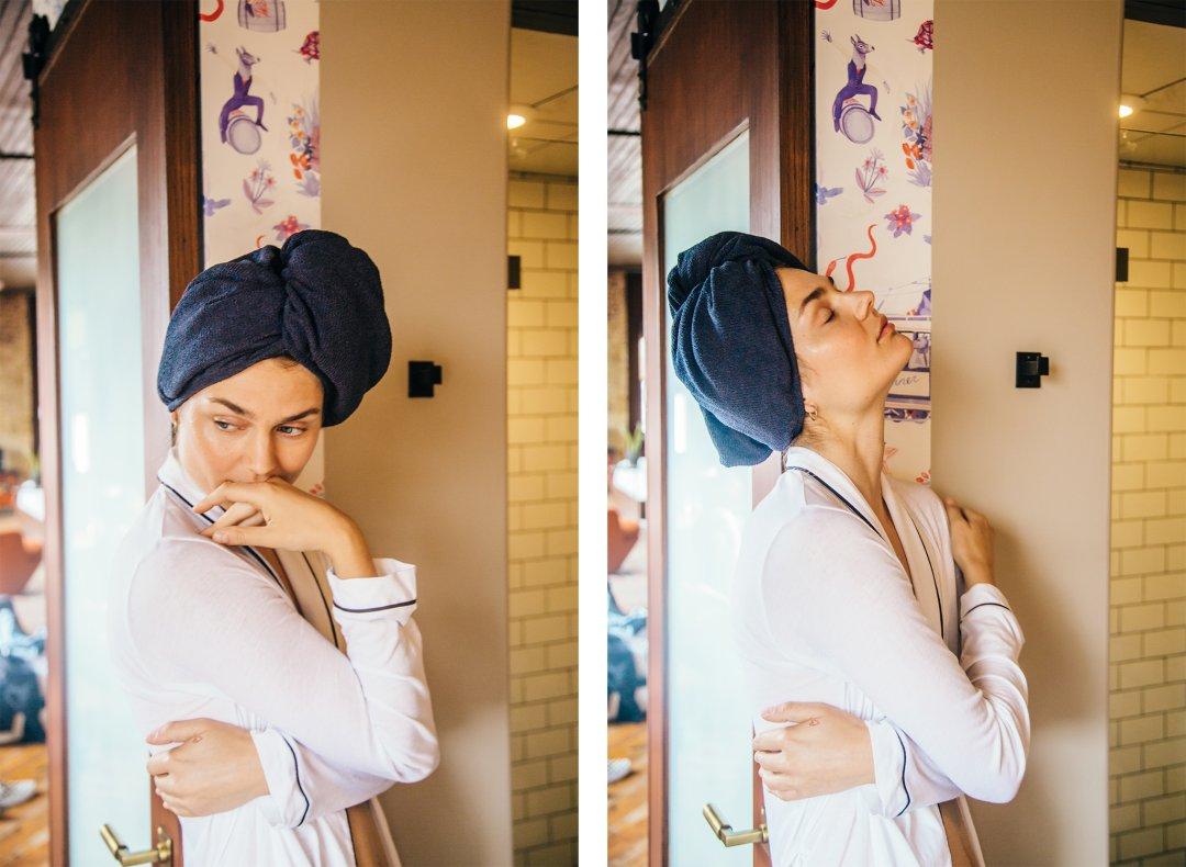 Quấn tóc bằng khăn lụa