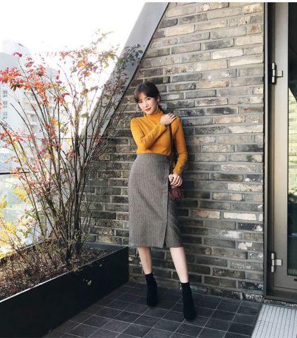 Gợi ý cách mix trang phục công sở mùa đông cho nàng
